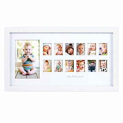 Pearhead My First Year Photo Moments Baby Keepsake Frame Gift for Mom to Be o...