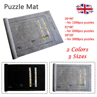 Jigsaw Puzzle Storage Mat Roll Felt Storage Puzzles Pad Board Up To 3000 Pieces