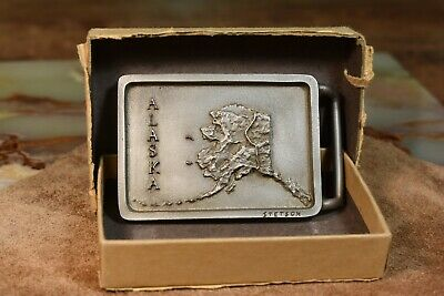 New Stetson Pewter Belt Buckle Alaska