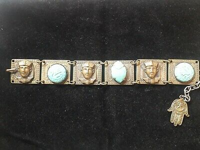Vintage Costume Jewellery Art Deco Style Egyptian Bracelet 4 50 Picclick Uk