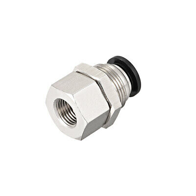uxcell 8mm Tube to 1//8BSPT Push Lock Fitting Bulkhead Union Air Fittings
