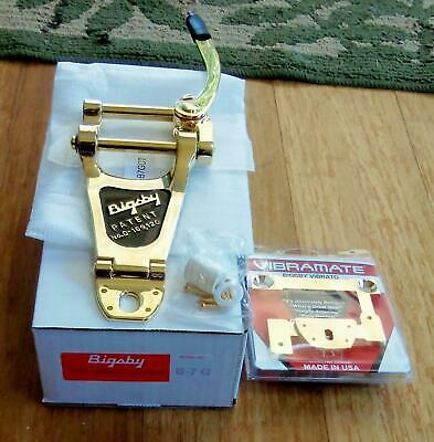 BIGSBY USA B7G VIBRATO TAILPIECE AND VIBRAMATE V7-LP-G COMBINATION KIT GOLD