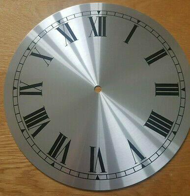 NEW - 10 Inch Clock Dial Face - Silver Finish 254mm - Roman Numerals - DL28