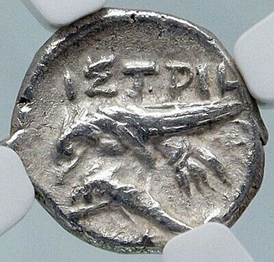ISTROS Thrace Authentic Ancient 400BC Silver Greek Coin GEMINI TWINS NGC i85727