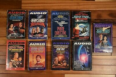 Lot of 9 Vintage Star Trek & Next Generation Audio Tapes