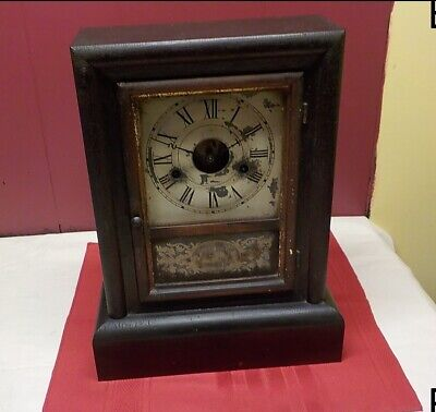 Antique 30 Hour Springs Clocks Co Made U S A  Hands  Have  T - S  Metal Face