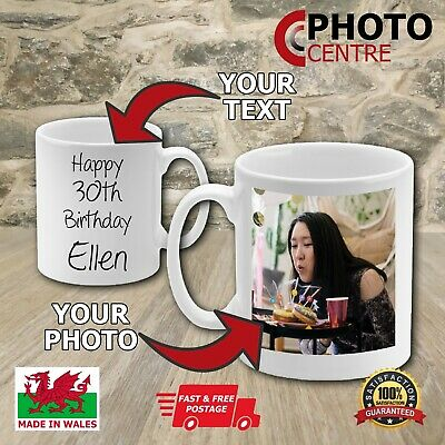 Personalised Coffee Mug Novelty Photo Fun Gift Custom Cup Name Text Image Logo