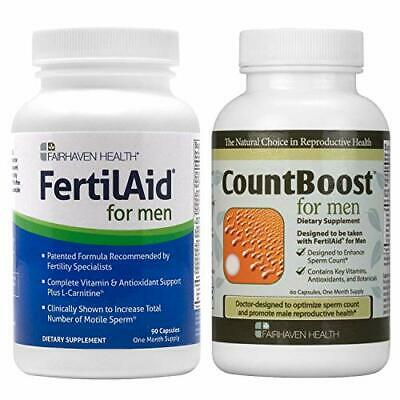 FertilAid for Men and countboost combo 1 Month Supply