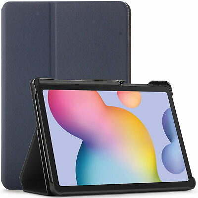 Samsung Galaxy Tab S6 Lite Case, Cover, Stand, Smart Auto Sleep Wake - Navy Blue