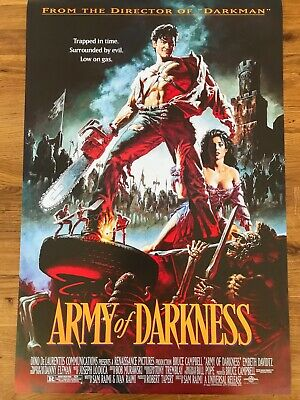 ARMY OF DARKNESS Classic Movie Poster Flag Fabric Wall Tapestry Banner 3x4 Feet