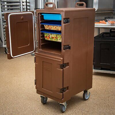 Carlisle PC600N Cateraide Brown Insulated Front Loading Food Pan Carrier