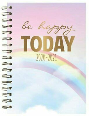 Tallon Mid Year Academic Diary A5 Spiral Bound 2020/21 Hard Back Be Happy Today