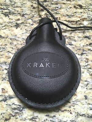 The Kraken Black Spiced Rum Faux Leather Plastic Flask NEW FREE SHIPPING