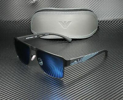 EMPORIO ARMANI EA2066 300155 Matte Black Blue Mirror Blue 57 mm Men's Sunglasses