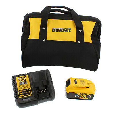 DeWalt DCB205CK 20V Max 5.0 Ah Lithium‑Ion Battery Kit with Bag