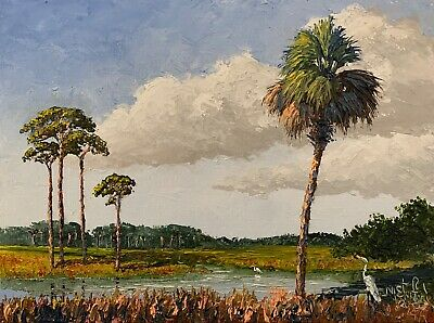 Knife Florida Oil Painting - Old Gainesville - Highwaymen Like - Lost Year Art