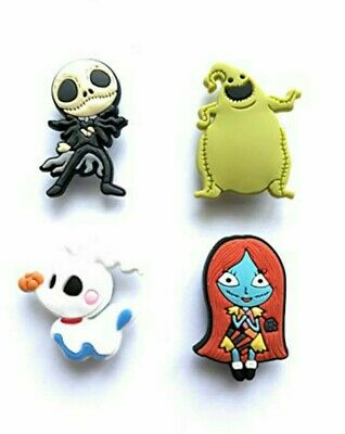 4pcs Nightmare Before Christmas PVC Shoe Charms for Crocs Clog Shoes Gift