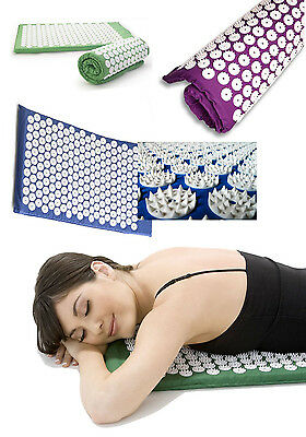 Tapis D'Acupression Acupressure Coussin Massage Lit de Clous Acupuncture 68x42cm