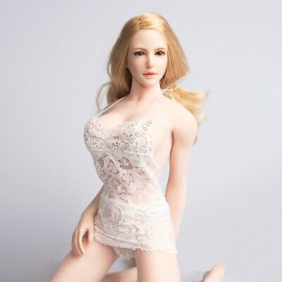 Details about  /MagiDeal 1:6 12/'/' Female Figure Lace Dress See-through Skirt Lace Underwear