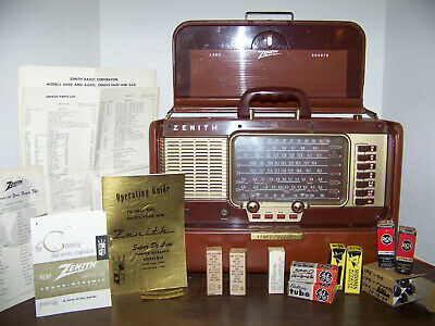 VNTG Zenith A600L SUPER DeLUXE Trans Oceanic Radio Working Manual STUNNING 1950s