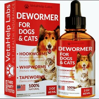 Pet Dewormer Cats dogs tapeworm roundworm hookworm killer All Natural Safe for a