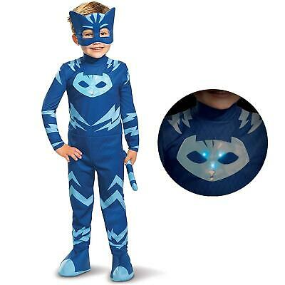 PJ Masks Catboy Deluxe Light-Up Boys size L 4/6 Licensed Costume Disguise CHOP