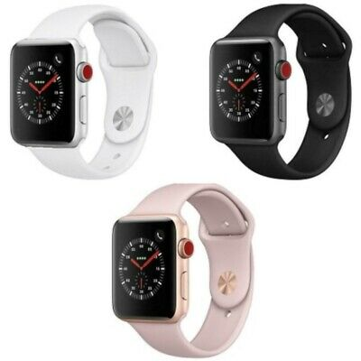 Apple Watch Series 3 GPS or GPS + Cellular 38mm - 42mm Aluminum Case Various Col
