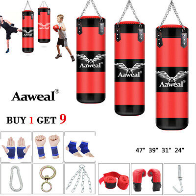 NEW 2-3-4FT  unfilled Heavy Punch Bag Buyer Build Set,Chains,Gloves,Boxing Bag