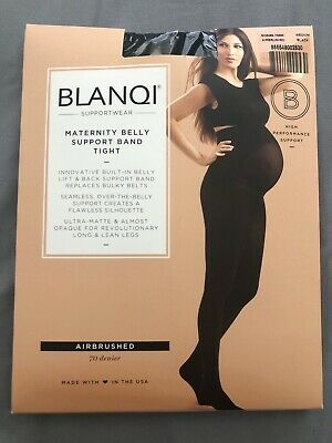 Blanqi Supportwear Maternity Belly Support Band Tight: Size M: Black