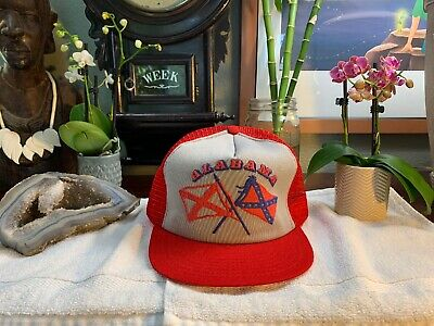 Vintage Alabama Mesh HAT Trucker CAP Made In USA RARE Snapback RARE Design