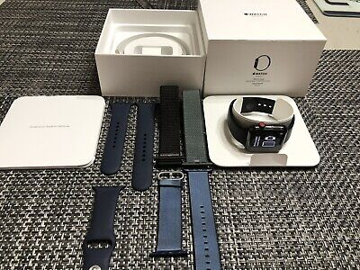 Apple Watch Series 3 42MM Stainless Steel/Space Black Cellular Flawless Cond.