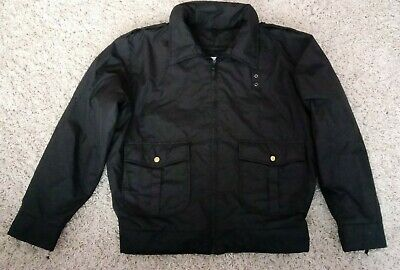 Galls Extreme Weather Coat Jacket Heavy Duty Work Waterproof Black Size M