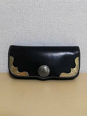 Redmoon Black Long Wallet Concho Pre-Owned