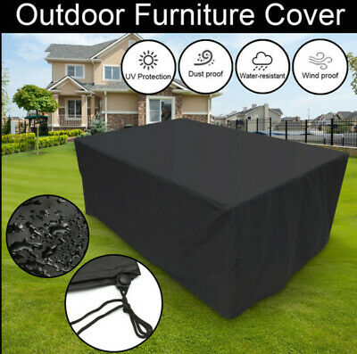 Waterproof Garden Patio Cover Rattan Table Furniture Cube Covers Outdoor Dust UK