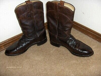 Justin 1879 Style #3714 Leather Cowboy Western Boots Men's Size 8 EE Wide