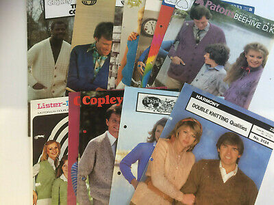13 x Assorted Men's Ladies and Children's Vintage Branded Knitting Patterns