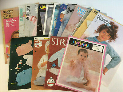 18 x Assorted Baby and Children's Vintage Branded Knitting Patterns