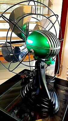 Vintage 1950's Westinghouse Electric Fan, Candy Lime Green color, Refurbished