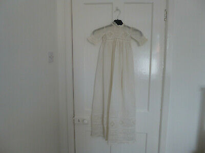 Antique Victorian Christening gown with beautiful lace decoration