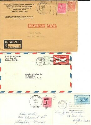 """1950's Envelope Hoard"" (27 in all) Mystic Insured; Bd. of Chosen Freeholders"