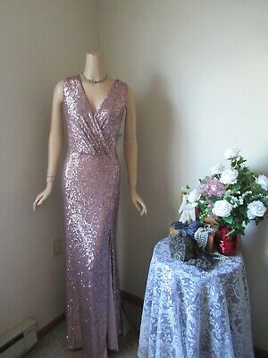 *NWT* Mother OF The Bride Dress by Xscape-Size 14-Rose Gold Sequined
