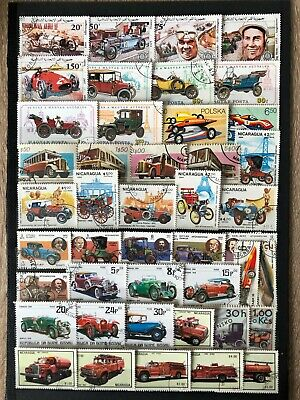 Lot Briefmarken alle Welt automobile gestempelt plus ein block postfrisch