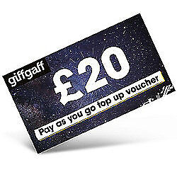 Giffgaff - £20 Mobile phone - Top Up vouche