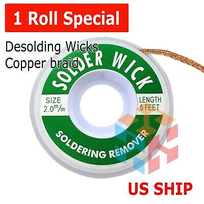 1PC 3.5mm 1.5M Desoldering Braid Solder Remover Removal Wick Wire Repair Toop9