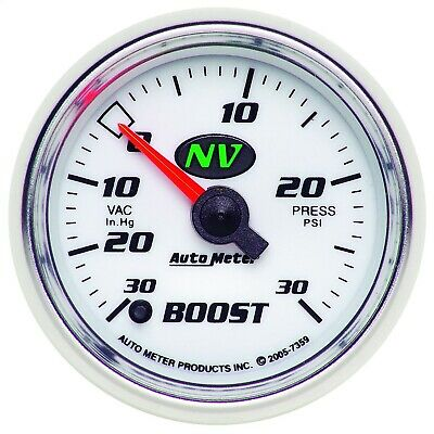 AutoMeter 7359 NV Electric Boost/Vacuum Gauge