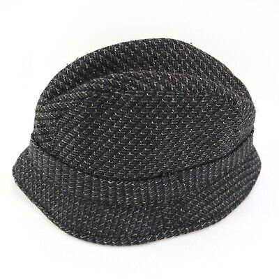 Malrov Wool Herringbone Tweed Fedora Rain Hat Mens L Thinsulate w/ Ear Flaps