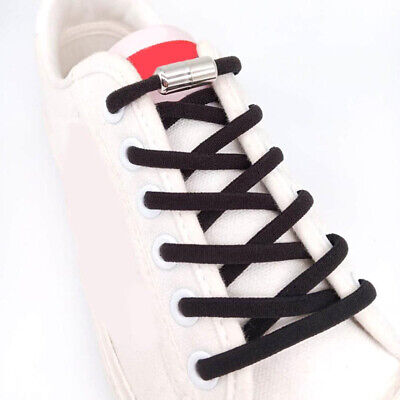 Elastic No Tie Shoe Laces Silicone Shoelaces For Adults Kids Trainers Shoes US