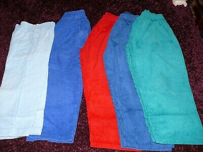 Vintage 90's Baby Toddler Trousers 5 Pack Age 4/5 Corduroy