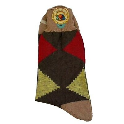 Vintage Fruit Of The Loom Men's Argyle Socks Deadstock New Size 11 Rockabilly