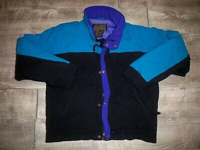 Vintage 90s Coloway Eddie Bauer Goose Down Puffer Puffy Jacket Coat Men's Small